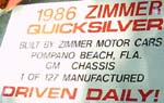 86 Zimmer Quicksilver Coupe