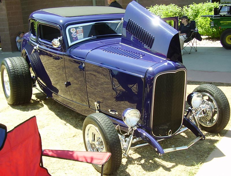 32 Ford Hiboy Chopped 5W Coupe